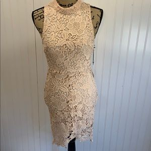 NWT ASTR the label Samantha high-low lace dress